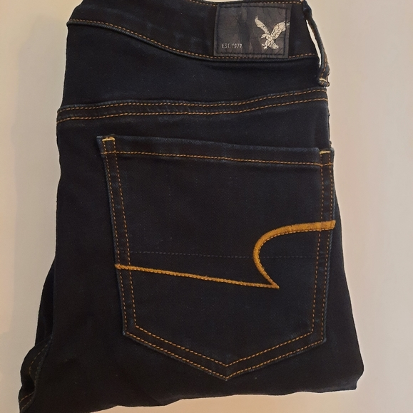 American Eagle Outfitters Skinny Super Stretch Jeggings Size 8 Dark Navy Jeans